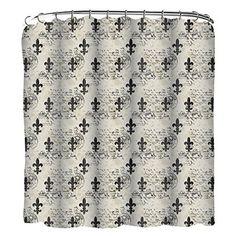 Fleur Di Lis Printed Shower Curtain