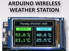 """In this tutorial I am going to show you how to build a Wireless Weather Station with a big 3.2"""" Color TFT display using Arduino. By Nick Koumaris."""
