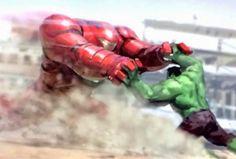 Hulkbuster and Hulk