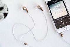 Fall for DIY Gold Earbud Headphones