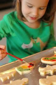 Fun painting cookies for kids