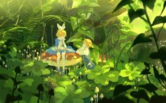 Rin and Len in Wonderland