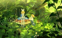 Rin and Len in Wonderland