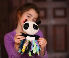 Craft a simple fabric scrap tutu for a doll or stuffed animal.