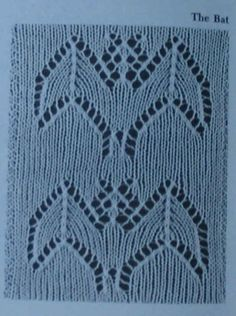 Barbara Walker Bat lace