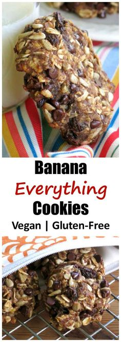 This recipe for Banana Everything Cookies will totally rock your morning breakfast routine! #vegan #glutenfree #healthy