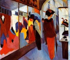 The Dress Shop,  August Macke - a needlepoint kit from The Silk Mill complete with all the silks.