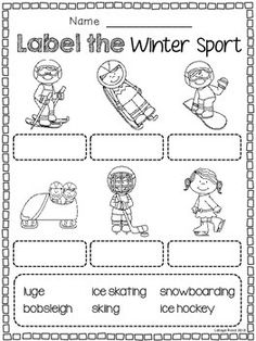 Winter Olympic and Winter Sports FREEBIES