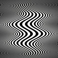 Op art waves (Tribute to Bridget Riley)