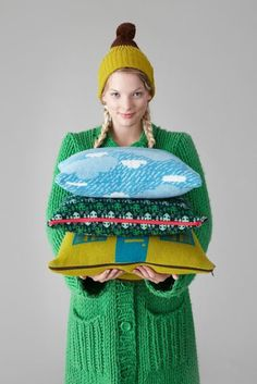 Donna Wilson cushions. #lifeinstyle #greenwithenvy