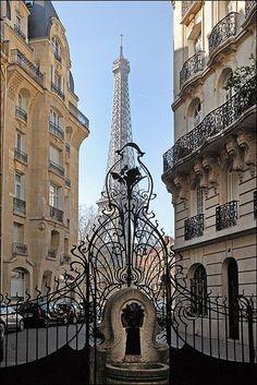 2 - Art nouveau gates leading to the Eiffel Tower, Paris, France Paris France, Paris 3, I Love Paris, Paris City, France Art, France Europe, Montmartre Paris, Tour Eiffel, Torre Eiffel Paris
