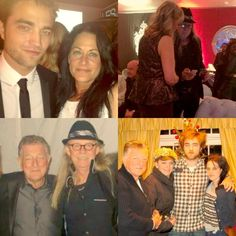 Rob with Kristen's mom..Kristen's dad with Rob's mom..Rob's dad and Kristen's dad...Rob's dad, mom Rob and Kristen