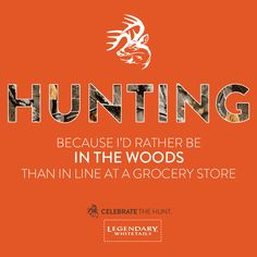 Here's one reason. What are yours? #CelebrateTheHunt