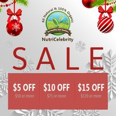 Limited time only, save on big discounts on your favorite vitamins and supplements for this holiday season.  Shop now and save!  www.nutricelebrity.com