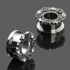 **HOT NEW ITEM** 2PC Hollow Flower... Check it out!! http://shopgeekfreak.com/products/2pc-hollow-flower-ear-plug-tunnel?utm_campaign=social_autopilot&utm_source=pin&utm_medium=pin #geek #shopgeekfreak - Think Geek? Shop Geek Freak!