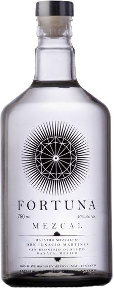 Fortuna Mezcal's pretty bottle
