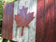 Canadian Flag Canada flag maple leaf rustic distressed weathered reclaimed wood home decor wall art. Woodworking Basics, Woodworking For Kids, Woodworking Toys, Woodworking Workshop, Woodworking Projects, Woodworking Blueprints, Woodworking Organization, Woodworking Quotes, Woodworking Chisels