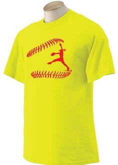 I Play Softball Shirt Pitcher Tshirt Catcher by CheaperThanShirt