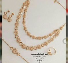 Gold Wedding Jewelry, Gold Jewelry Simple, Bridal Jewelry Sets, Gold Jewellery, Jewelry Design Earrings, Jewellery Designs, Bangles, Gold Set, Girls Accessories