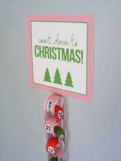 christmas countdown chain.  i have to remember this for next year
