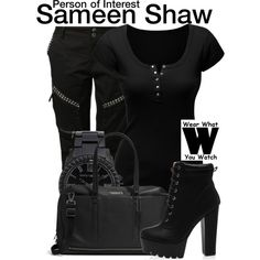 "Inspired by Sarah Shahi as Sameen ""Sam"" Shaw on Person of Interest."