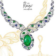 Russian Princess collection Gold, diamonds,emeralds, sapphires @ringojewelrydesign Emerald Necklace, Emerald Jewelry, Boho Jewelry, Jewelry Art, Gemstone Jewelry, Diamond Jewelry, Jewelery, Jewelry Bracelets, Jewelry Design