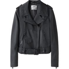 Acne Studios Mape Scuba Leather Jacket ($900) ❤ liked on Polyvore featuring outerwear, jackets, tops, coats, leather biker jacket, leather motorcycle jacket, motorcycle jacket, real leather jacket and moto jacket