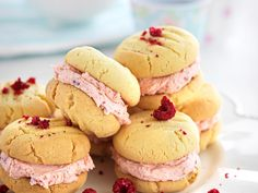 A classic afternoon tea biscuit with added raspberries for a modern touch.