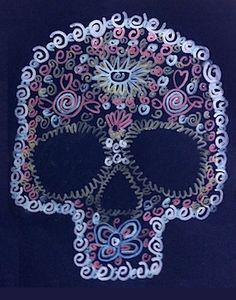 Art Projects For Kids day of the dead skull pattern