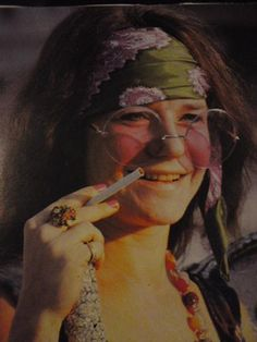 Janis Joplin ~ what a voice!  may try to be Janis for halloween