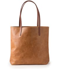 Brown Leather Bag Large Leather Tote Soft Leather Bag ($175) ❤ liked on Polyvore featuring bags, handbags, tote bags, leather handbag tote, leather handbags, leather tote, tote purses and tote handbags