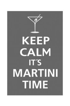 martini time, with blue cheese stuffed olives?! :)