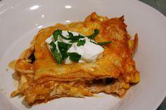 Skinny Chicken Enchilada Casserole 8 pts