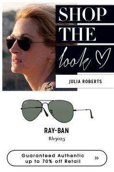 Julia Roberts- Ray-Ban - Aviator sunglasses.  shop #eyeglasses #for #women at very affordable price @eyeglasses123