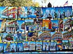 Jackson Square, New Orleans Colorful Art is Very Common Spring Time, Many Tourist in Town… People who own a French Quarter […] New Orleans French Quarter, Jackson Square, Square Art, Condos, Spring Time, The Neighbourhood, Colorful, Travel, The Neighborhood
