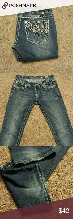 """Miss Me Boot Cut Bling Jeans! Miss Me Boot Cut Bling Jeans! Size 28, Inseam 31 """". EUC. Miss Me Jeans Boot Cut"""