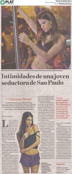 FOX Networks Group: Estreno de Llámame Bruna en el suplemento Luces del diario El Comercio de Perú (01/10/16)