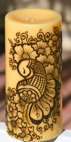 candles decorations WITH HENNA - Google Search