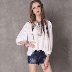 2017 Brand Summer Women Blusas Vintage Boho Ethnic Embroidery Women Cotton Blouse Shirts Tops Tunic White Vintage Casual Shirt