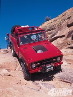 #Red 1977 Ford Bronco