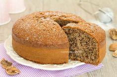 Torta alle noci sofficissima Köstliche Desserts, Sweets Recipes, Delicious Desserts, Cake Recipes, Easy Cooking, Cooking Recipes, Sweet Light, Torte Cake, Sweet Cakes