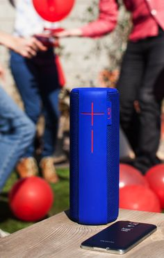 The Ultimate Ears UE MEGABOOM wireless portable speaker is loud enough to be the life of the party. With a waterproof design and 20-hour battery life, this accessory can immerse any space in studio-quality music all day long, streamed via Bluetooth from your mobile device or tablet. Or, Double Up with another UE BOOM and bring the boom to another room. Available in black, blue, red and grey.