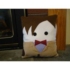 11th Doctor Matt Smith Pillow Plush Cushion (43 CAD) ❤ liked on Polyvore featuring home, home decor, throw pillows, dark olive, decorative pillows, home & living, home décor, olive green throw pillows, plush throw pillows and handmade home decor