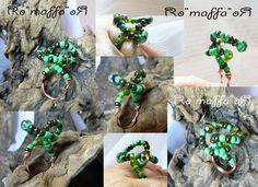Anello - perline verdi