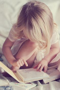 little girl child reading