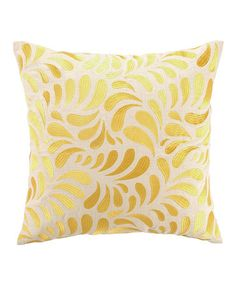 Look what I found on #zulily! Yellow Montecito Swirl Throw Pillow #zulilyfinds