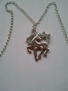 Fine silver plated metal chain necklace with by CraftyBunnyDog