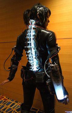 "rhubarbes: "" Cyberpunk, ver by mel ell More robots here. "" rhubarbes: "" Cyberpunk, ver by mel ell More robots here. "" More from my site Cyberpunk Online Phuket – Krabi – Bangkok: 10 Days In Thailand Cyberpunk Mode, Cyberpunk Fashion, Cyberpunk Clothes, Cyberpunk Aesthetic, Arte Sci Fi, Sci Fi Art, Boris Vallejo, Larp, Medieval Combat"