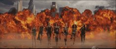 """And Taylor's entire squad walks through an explosion.   Taylor Swift's """"Bad Blood"""" Music Video Is Fierce Perfection"""