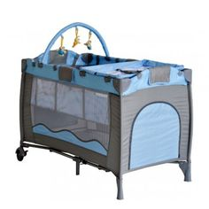 Buy Portable Baby Travel Cot Playpen Kid Bed Bassinet Entryway Blue New